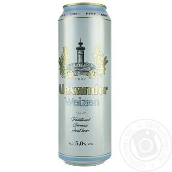 Пиво Alexander Weizen 5% 0,568л