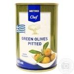 Оливки зелені METRO Chef без кісточки 425мл - купити, ціни на Метро - фото 1