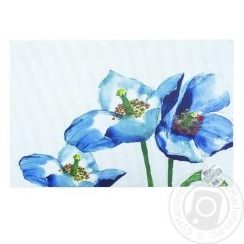 Килимок сервірувальний Блакитні квіти 30Х45см