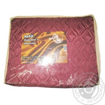 Покривало Lotti  230*225см+наволочка 2шт Art.76-190-008 х6 - купити, ціни на МегаМаркет - фото 1
