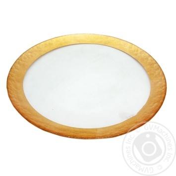 Тарілка Atlas білий з золотим обідком 32,5х2,5см
