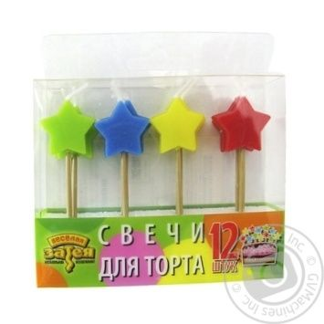 Vesela vytivka Candles for Cake 5pcs in assortment - buy, prices for Auchan - photo 2