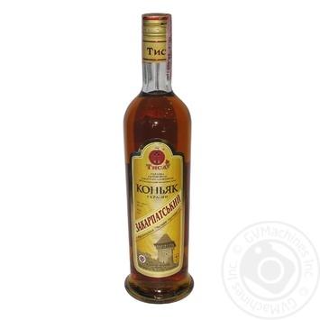 Tisa Zakarpatskyi 4 Stars Cognac 40% 0,5l - buy, prices for EKO Market - photo 1