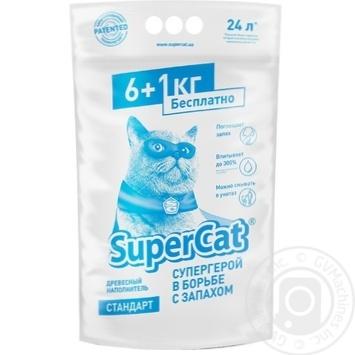 Наповнювач гігієнічний для туалету Super Cat стандарт 6+1 7кг 5995 - купить, цены на Novus - фото 1
