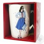 Чашка Keramia Модная девушка - 9 390мл