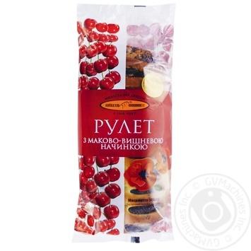 Рулет КиевХлеб с маково-вишневой начинкой 300г - купить, цены на Фуршет - фото 5