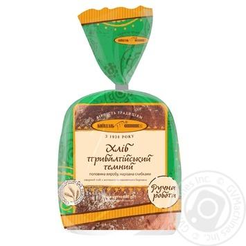 Хлеб Киевхлеб Прибалтийский темный половина нарезка 400г - купить, цены на Ашан - фото 1