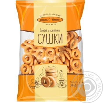 Cracknel Kyivkhlib rich with vanilla 400g Ukraine - buy, prices for Furshet - image 1