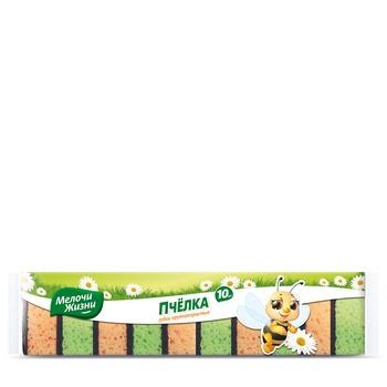 Dribnytsi Zhyttya  Kitchen sponge 10pcs - buy, prices for Auchan - photo 1