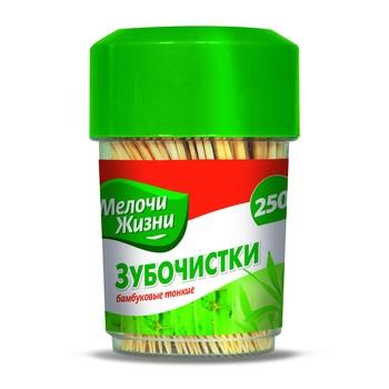 Зубочистки Мелочи Жизни бамбуковые тонкие 250шт - купить, цены на Фуршет - фото 1