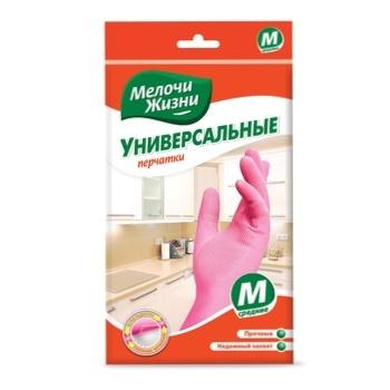 Перчатки Мелочи Жизни хозяйственные латексные размер М - купить, цены на Фуршет - фото 1