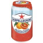 Напиток Sanpellegrino Aranciata Rossa Красный апельсин газированный сокосодержащий 0,33л