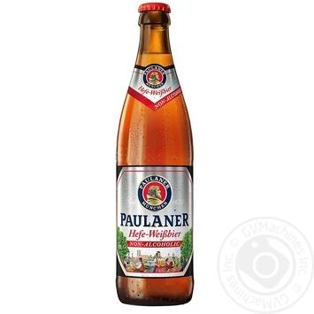 Пиво Paulaner светлое нефильтрованное пастеризованное безалкогольное 0,5% 0,5л - купить, цены на МегаМаркет - фото 1