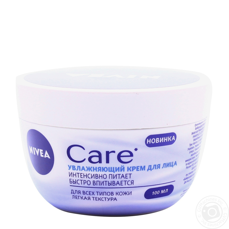 Cream Nivea Moisturizing For Face 100ml Hygiene Care Soft