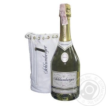 Вино игристое Shlumberger Vintage White Brut 11.5% 0.75л - купить, цены на Фуршет - фото 1