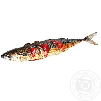 Тушка скумбрии с перцем болгарским красным в маринаде охлажденная полуфабрикат - купить, цены на Novus - фото 1