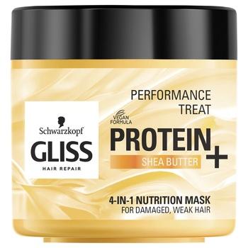 Маска 4-в-1 Gliss Kur Performance Treat Питание для поврежденных ослабленных волос 400мл - купить, цены на Ашан - фото 1