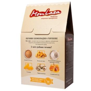 Печенье Mon Lasa Шоколадно-ореховое 120г - купить, цены на МегаМаркет - фото 2