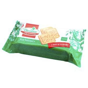 Печенье Житомирские ласощи сахарное с фруктозой для диетического питания 155г - купить, цены на Фуршет - фото 1