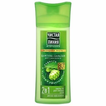 Shampoo Chistaya liniya Shampoo + balm with burdock oil for hair 250ml - buy, prices for Novus - image 2