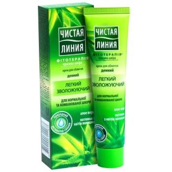 Крем для лица Чистая линия Увлажняющий дневной для нормальной кожи 40мл - купить, цены на Фуршет - фото 1