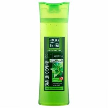 Шампунь Чистая линия Укрепляющий для всех типов волос 400мл - купить, цены на ЕКО Маркет - фото 1
