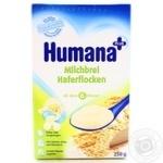Каша детская Хумана молочная овсяная сухая с 6 месяцев 250г Германия