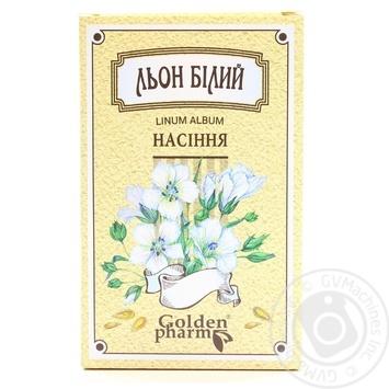 Льон насіння Golden Pharm білий 100г - купити, ціни на МегаМаркет - фото 1