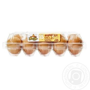 Яйца куриные От хорошей курицы Корзина Жизни С0 15шт - купить, цены на Novus - фото 3