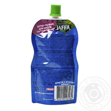 """Smothie- puree Jaffa Crazy Fruit """"Banana - berry boom"""" Banana-apple-blueberry-strawberry-cereal 100 ml - buy, prices for Auchan - image 2"""