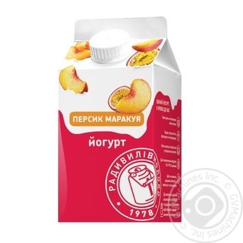 Йогурт Радивилівмолоко Персик Маракуя 2% 430г - buy, prices for Auchan - photo 1