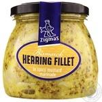 Zigmas pickled in mustard fillet herring 560g
