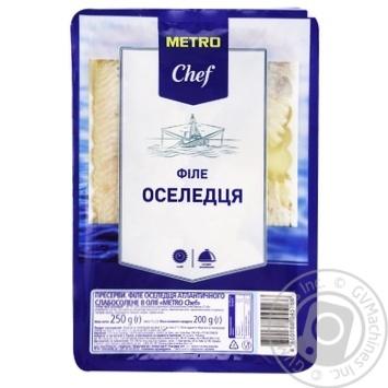 Филе сельди Metro Chef слабосоленое в масле 250г - купить, цены на Метро - фото 1