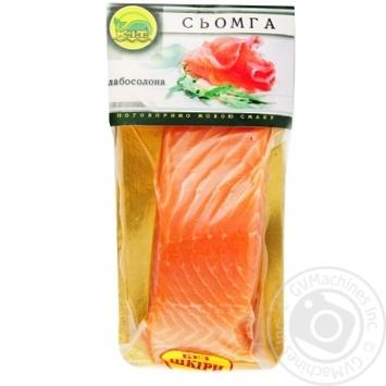 Рыба K.I.T. Сёмга филе слабосоленая без кожи 300г