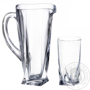 Набор стаканов Bohemia Quadro для воды 7шт. - купить, цены на Метро - фото 2