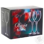 Бокал для вина Olivia набор 200мл 6шт