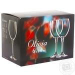 Фужери для вина Bohemia Олівія 6*240мл