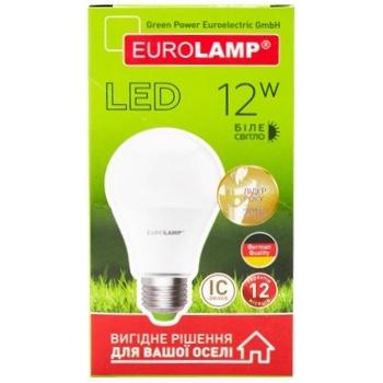 Лампа світлодіодна Eurolamp LED А60 12W E27 4000K - купити, ціни на Метро - фото 1