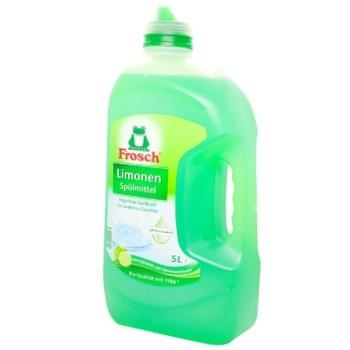 Средство для мытья посуды Frosch Зеленый лимон 5л