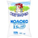 Молоко Славяночка пастеризованное 2.5% 940г пленка Украина - купить, цены на Фуршет - фото 1
