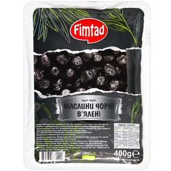 Маслины Fimtad черные вяленые 400г
