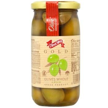 Оливки DivaOliva зелені з кісточкою 370мл - купити, ціни на ЕКО Маркет - фото 1