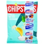 Flint Chipster's with sour cream and greens flavor chips 130g