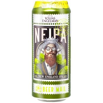 Пиво Volfas Engelman Neipa светлое фильтрованное 5% 0,5л