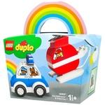 Конструктор Lego Duplo Пожарный вертолет и полицейская машина
