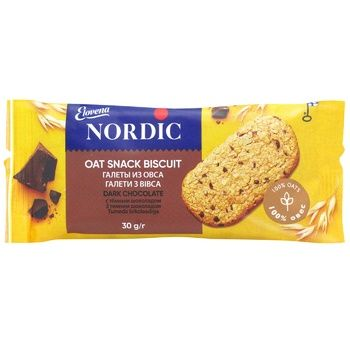 Nordic with dark chocolate oat cookies 30g - buy, prices for EKO Market - photo 1