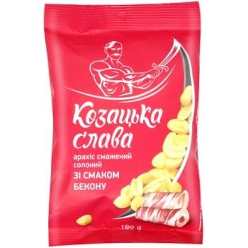 Арахіс Козацька слава смажений солоний зі смаком бекону 180г