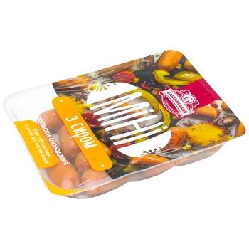 Сосиски Бащинский Мини с сыром 1/с 350г - купить, цены на МегаМаркет - фото 1