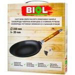 Сковородка Biol для блинов со съемной ручкой 22см