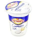 President Sour Cream 15% 350g